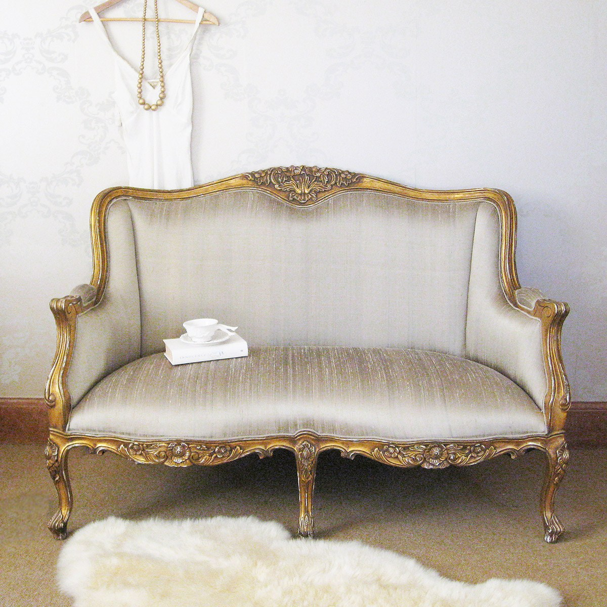 french sofas and chairs fulton home contemporary gray sofa versailles gold bedroom with silk upholstery