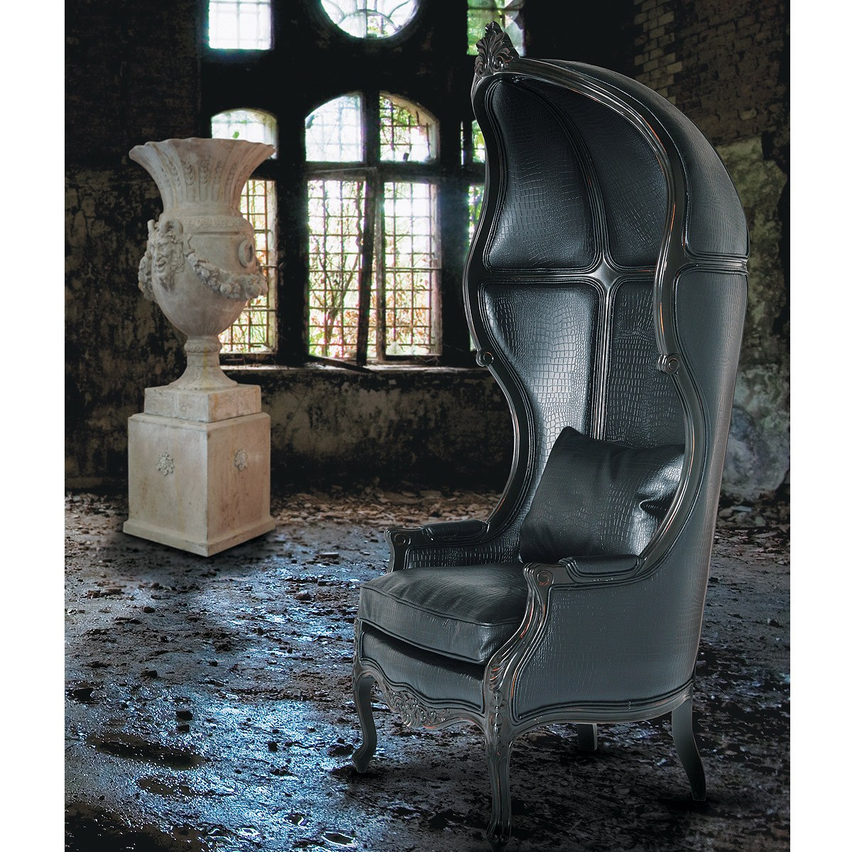 black throne chair living room accent chairs glamour boy leather french bedroom company