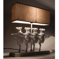 Dancing Cow Figure Animal Quirky Lamp, French Bedroom Company