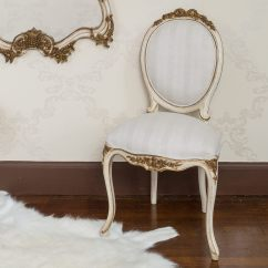 French Bedroom Chair Nz Round Table 6 Chairs Garden Palais Ivory And Gold Company