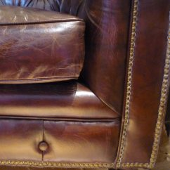 Vintage Leather Sofa Company Best Pull Out Sleeper Cherished Chesterfield Brown French