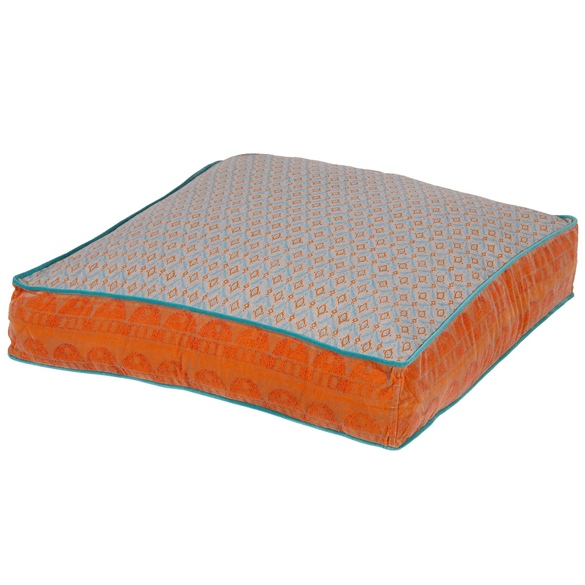 Large Festival Floor Cushion in Orange French Bedroom Company