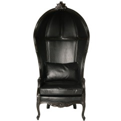 Black Throne Chair Invacare Transport Glamour Boy Leather French Bedroom Company