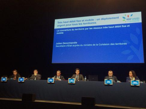Julien Denormandie au congrès des maires, le 22 novembre, pour une conférence sur le très haut débit.