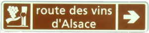 Alsace Wine Route sign