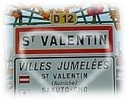 st valentine village sign