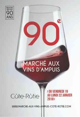 Ampuis wine market poster 2018