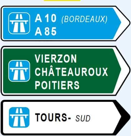 autoroute signs