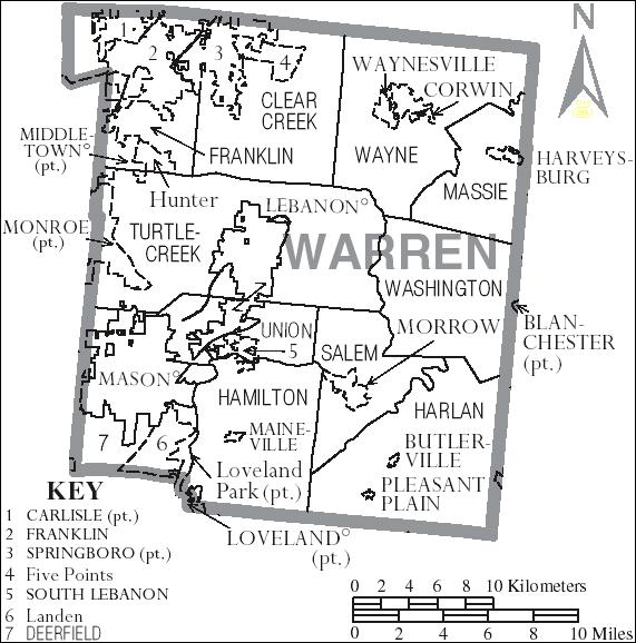 Chart #187, John French, 1812 (Warren Co.?) Ohio Hendricks