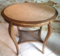 A3841 Old French Gueridon Lamp Stand