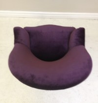 A2854 Old French round back chair - purple velvet