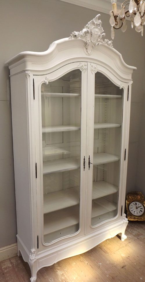 double glazed kitchen doors aid toasters id3268 stunning antique french crested display cabinet