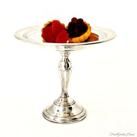 Vintage Silver Plated Footed Candy Bonbon Footed Compote ...