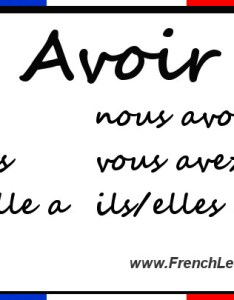Avoir conjugation also chart rh frenchlearner
