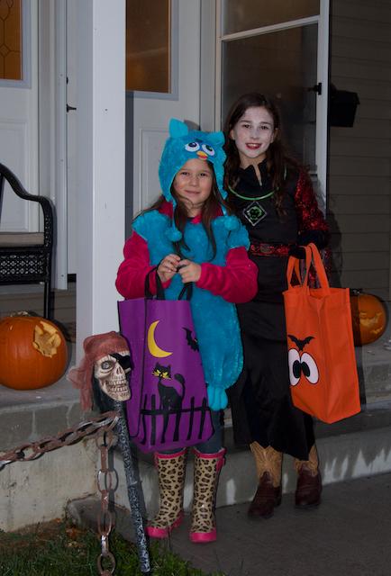 Costumées pour l'Halloween