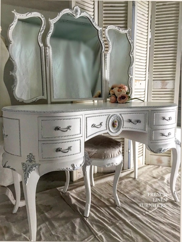 cheap for discount 25a2e 4bbfc Custom painted French Dressing Table – French Linen Furniture