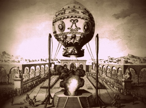 Le premier vol de Montgolfière