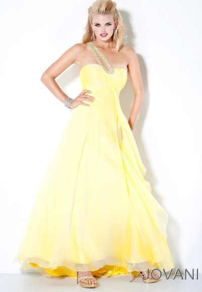 Jovani Yellow Ombre Long Chiffon Prom Dress 111037 French Novelty