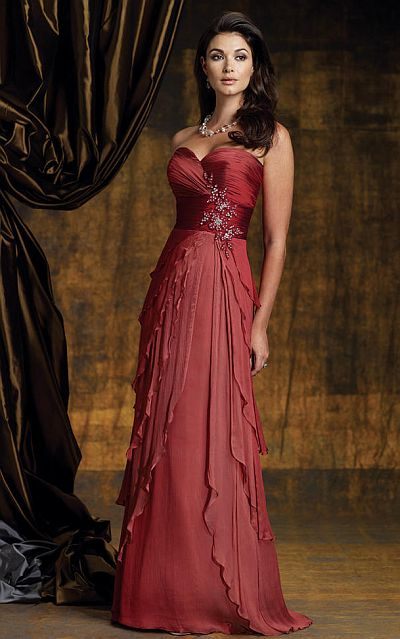 Montage Boutique Ombre Silk Chiffon Evening Dress 112948