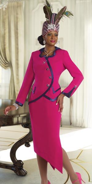 Donna Vinci 11343 Womens Designer Church Suit French Novelty