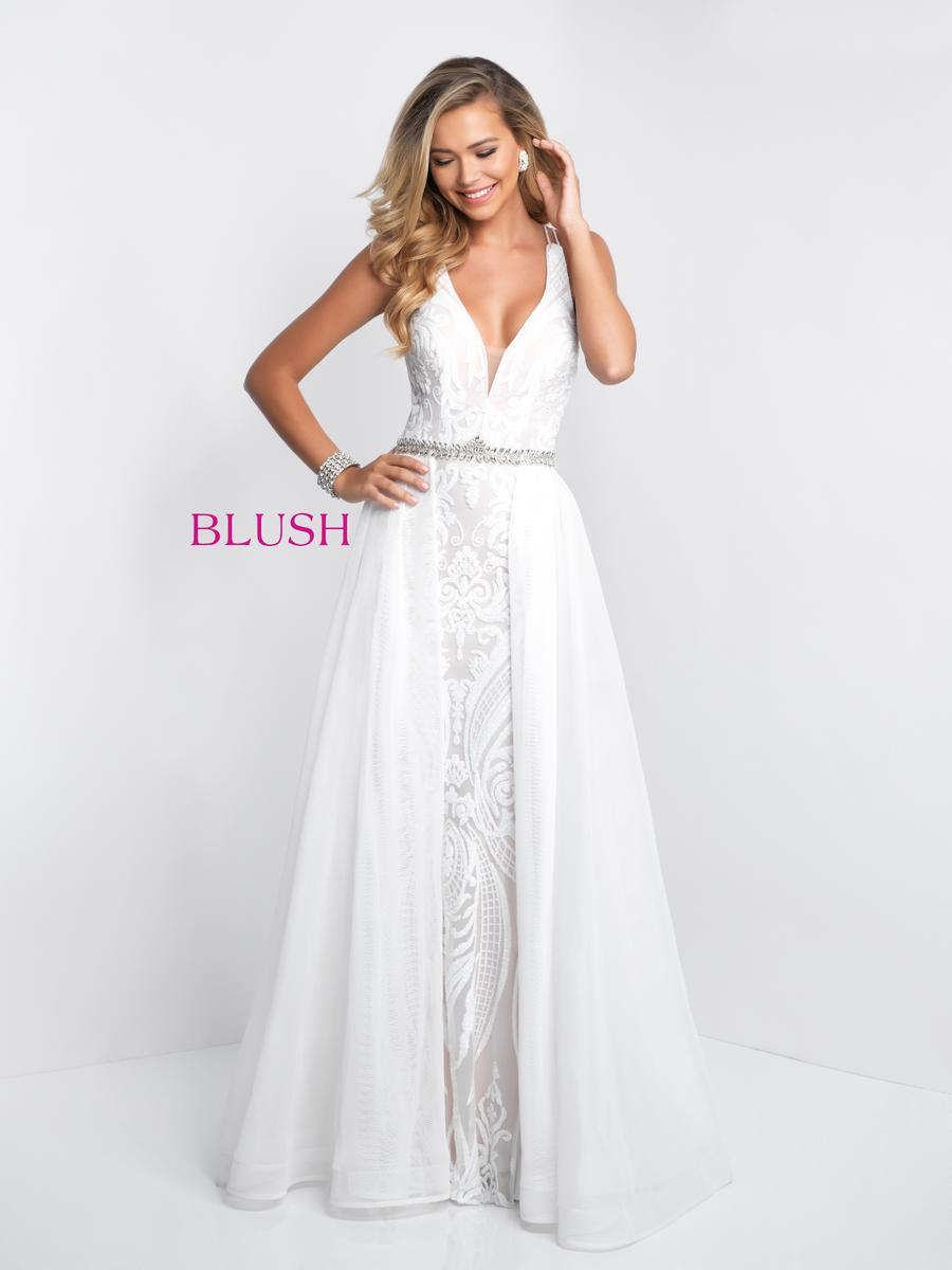Blush 11546 Pattern Sequin Prom Gown French Novelty