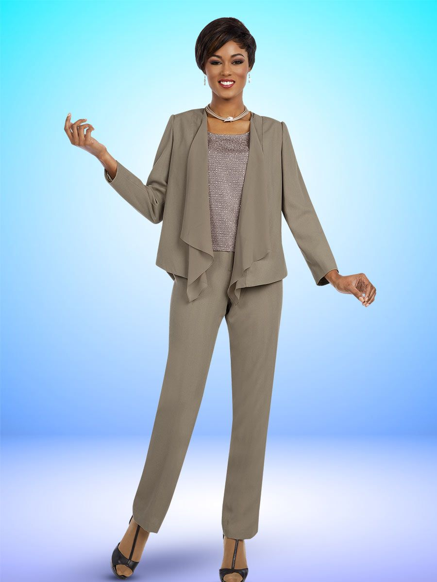 Ben Marc Executive 11579 Ladies 3 Piece Pant Suit French
