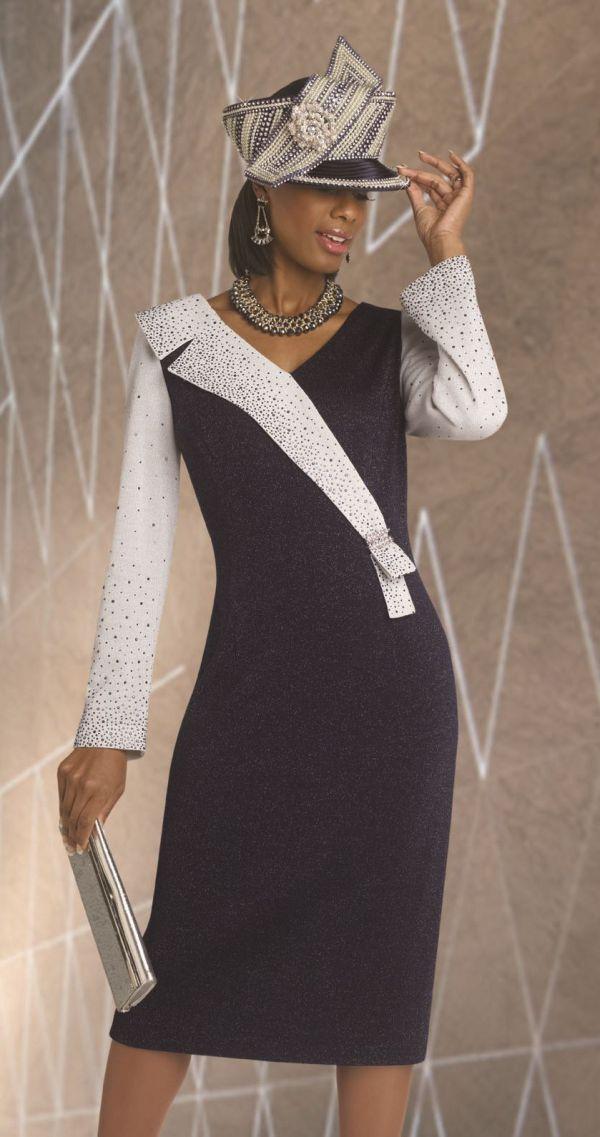 Donna Vinci 13050 Asymmetric Knit Dress - French Novelty
