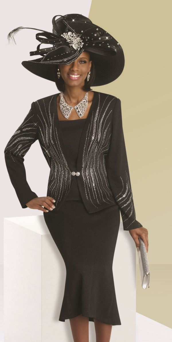 Donna Vinci 13062 Womens Knit Church Suit - French Novelty