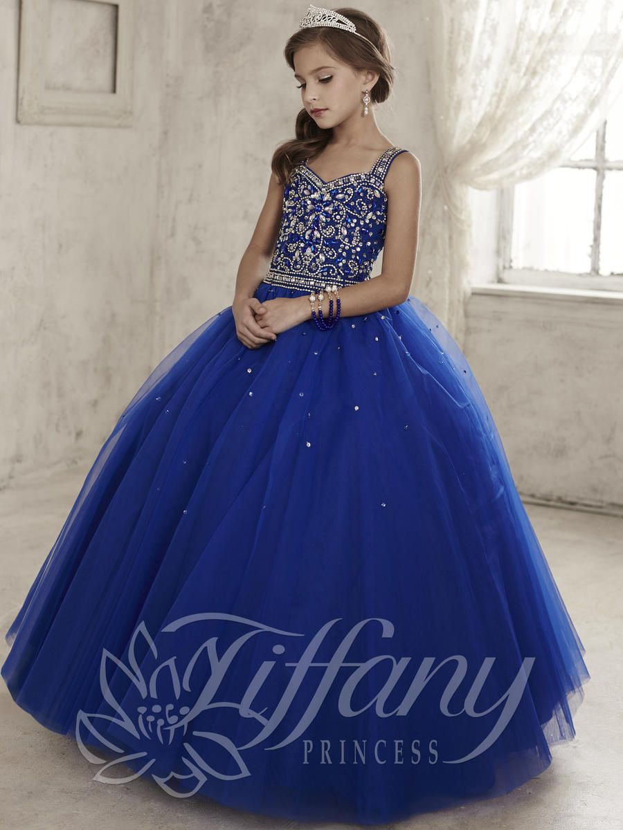 Tiffany Princess 13443 Girls Tulle Pageant Dress  French Novelty