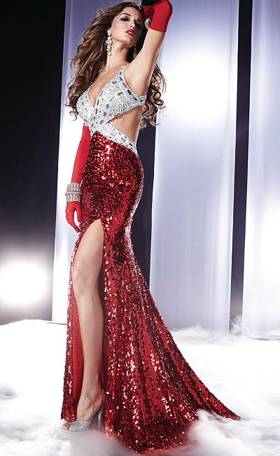 Panoply Sequin Halter Prom Dress 14470 French Novelty