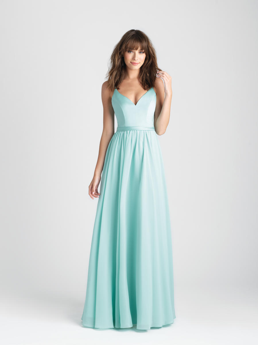 Allure 1503 V Neck Bridesmaid Gown French Novelty