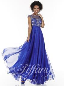Tiffany Design 16062 Lace Evening Dress - French Novelty