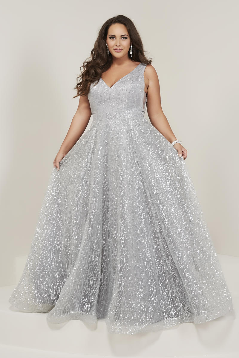 Tiffany Designs 16373 Sparkling Plus Size Prom Dress French Novelty