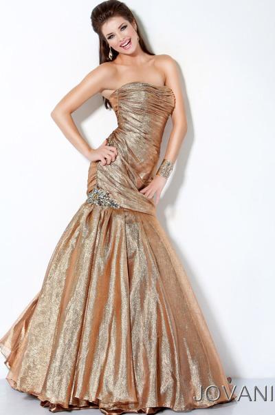 Prom Dresses 2012 Jovani Gold Long Prom Dress 173312