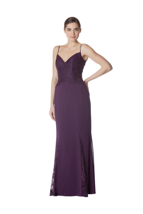 Bari Jay 1785 Lace Spaghetti Strap Bridesmaid Gown French Novelty