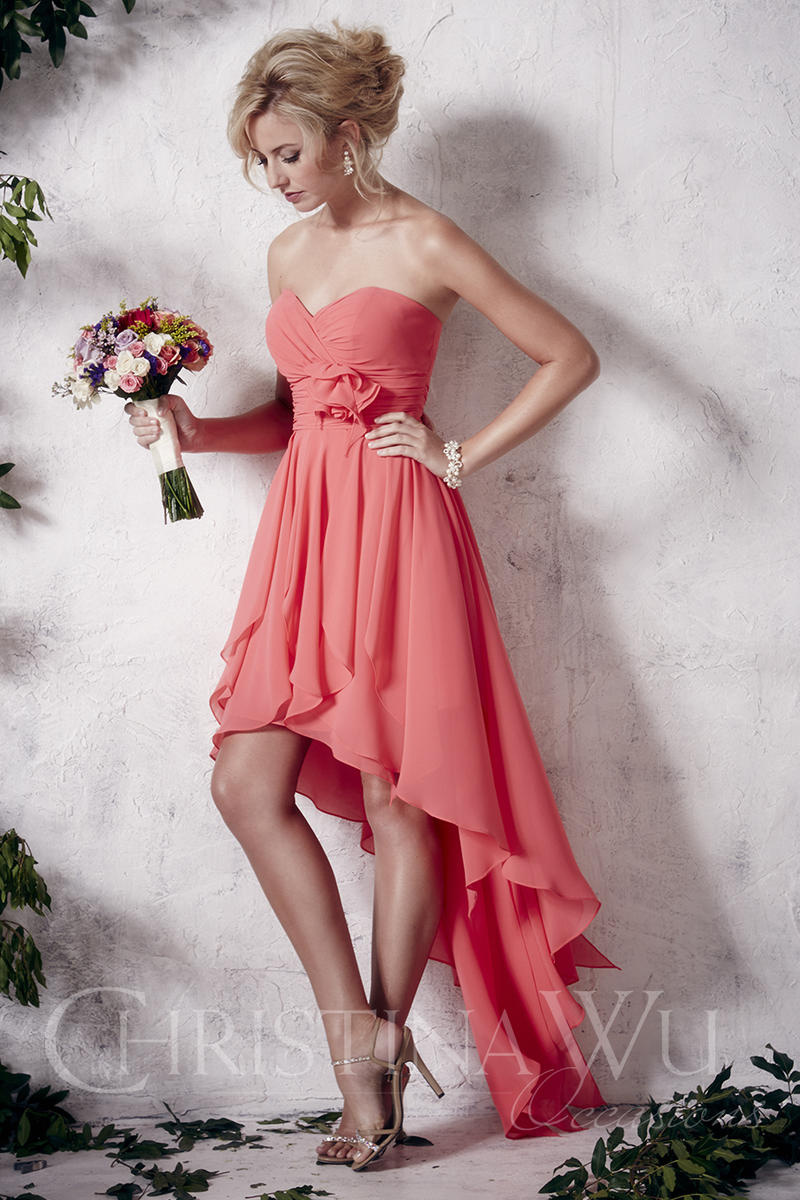 Christina Wu Occasions 22648 High Low Bridesmaid Dress French Novelty