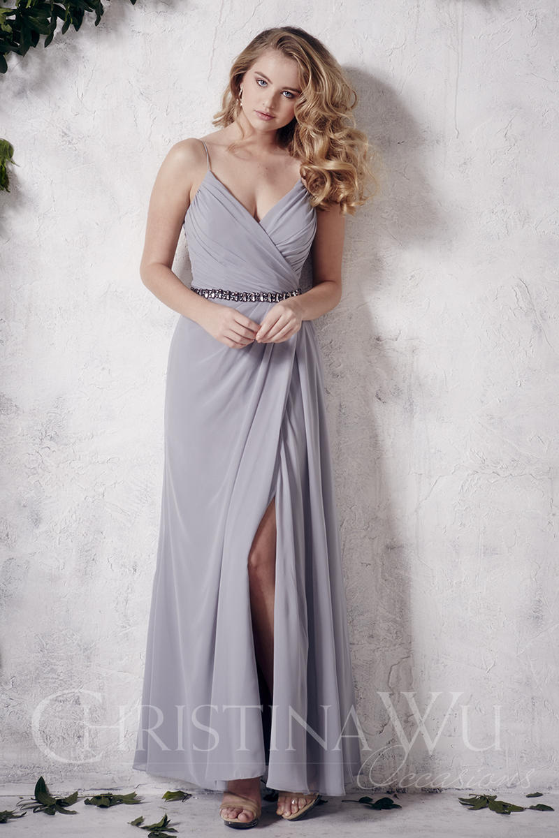Christina Wu Occasions 22659 Chiffon Bridesmaid Gown