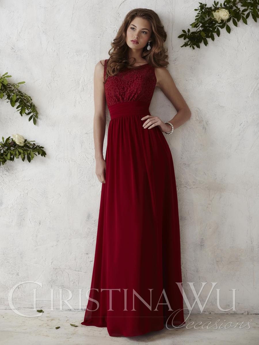 Christina Wu Occasions 22675 Lace Chiffon Bridesmaid Gown