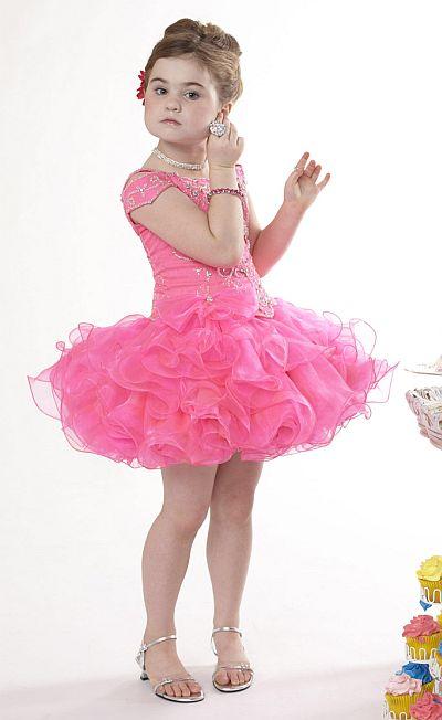 Tiffany Cupcake Collection Girls Ruffle Organza Pageant