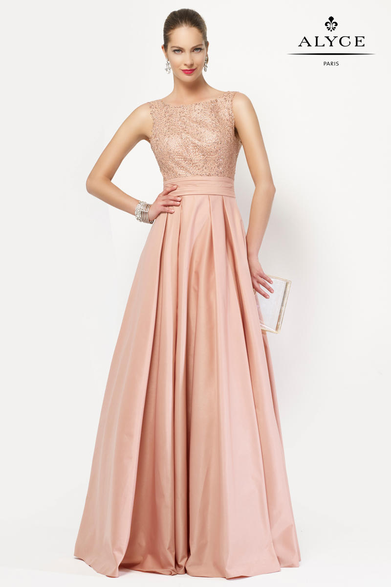 Alyce 27104 JDL Mother of the Bride Dress French Novelty