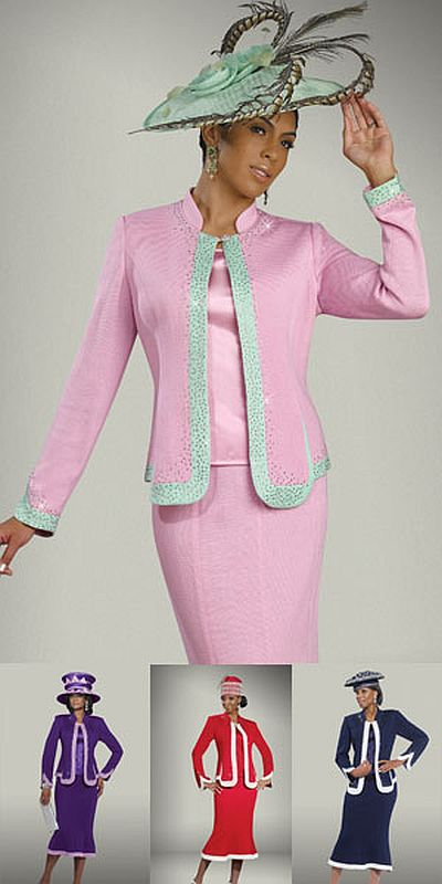 Donna Vinci Knits 2906 Womens Church Suit French Novelty