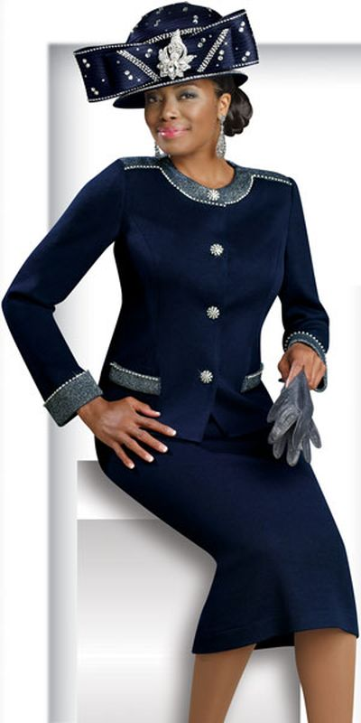 Donna Vinci Knits 2909 Womens Church Suit French Novelty