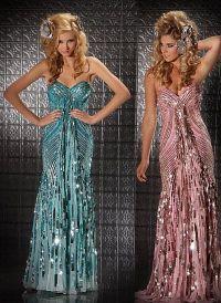 Mac Duggal Prom 70s Retro Look Sequin Prom Dress 3454M ...