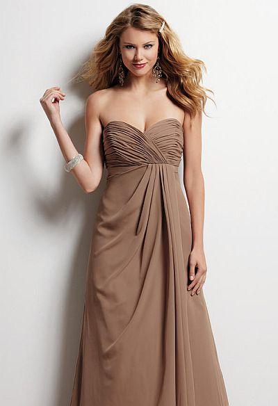 Size 6 Sable Jordan Chiffon Long Bridesmaid Dress With