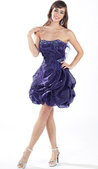 Alyce Paris After Five Cocktail Organza Short Prom Dress
