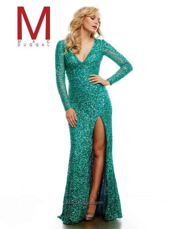 1efa8e54ce7 Cassandra Stone Mac Duggal 4278a Long Sleeve Sequin Gown French Novelty