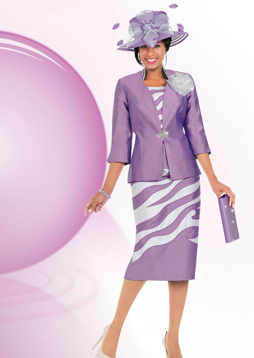 Ben Marc 47562 Womens Shantung Church Suit with Hat and Purse French Novelty