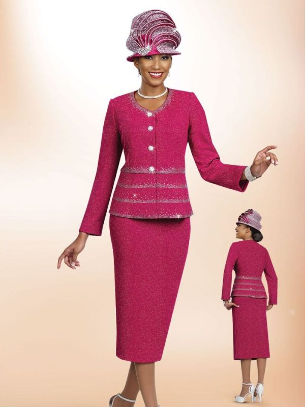 Ben Marc 47967 Womens Flattering Church Suit French Novelty