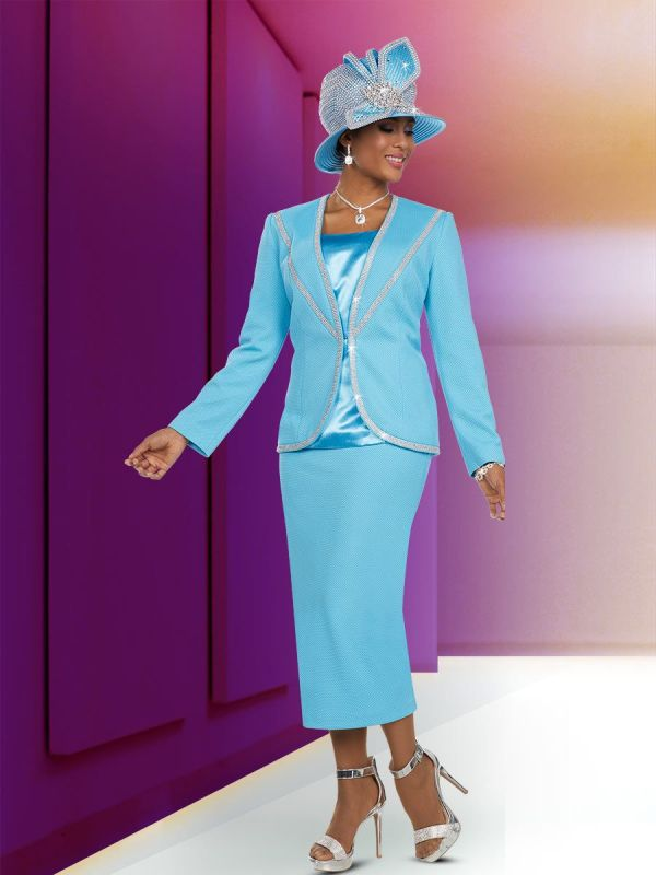 Ben Marc 48117 Ladies Beaded Trim Church Suit French Novelty