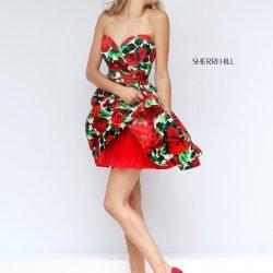 ba97ac8aefe Sherri Hill 50028 Short Floral Print Prom Dress  French Novelty
